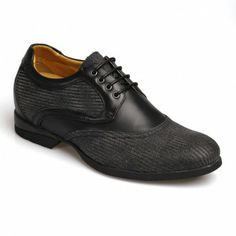 6ccab2ca5fe Black grey increase height shoes for men   with the - Mens Shoes Lifts    Cow Leather Black Grey Dress Height Increase Shoes