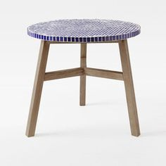 Mosaic Bistro Dining Table - Blue Penny