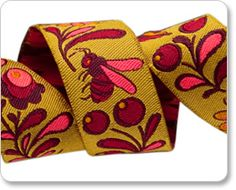 Tula Pink : Renaissance Ribbons, Design, manufacturing and wholesale distribution of exquisite ribbons for fashion and decor