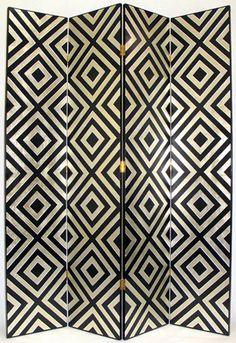 Art Deco Diamond Screen ( changing room )