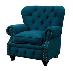 * Stanford Collection* Traditional Style* Chesterfield-Inspired* Rolled Arms* Nailhead Trim* Fabric* Dark Teal