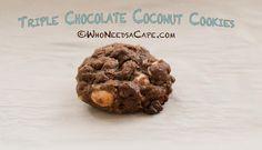 Triple Chocolate Coconut Cookies Recipe on Yummly. @yummly #recipe