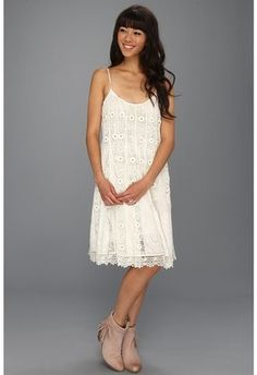 Free People Sunray Trapeze Party Dress Ivory. Lose the boots, and we're in for a simple beach wedding! Y/N? :)