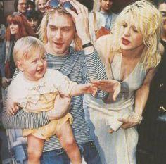 Kurt Cobain, Courtney love, & Frances bean Cobain