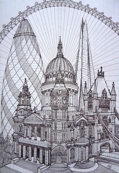 A combination of structures that impressed me during my visit to London in 2011. The London Tower Bridge, the Shard, the St. Paul's Cathedral, the Westminster Road Bridge, the Gherkin Tower, the en...