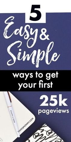 Need some blog traffic tips? How do you get your first 25k pageviews for your new blog? Blogging tips to help you are here in this post with 5 tips to start growing your blog traffic fast and quickly. No matter what blog niche or blog topic ideas you have, you can get started growing your blog! #bloggingtips