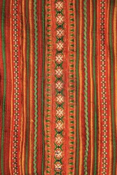 Picture of Colorful Thai style handmade fabric pattern stock photo, images and stock photography. Textures Patterns, Fabric Patterns, Culture Of Thailand, Fabric Design, Pattern Design, Sewing Nook, Thai Pattern, Asian Fabric, Bohemian Rug