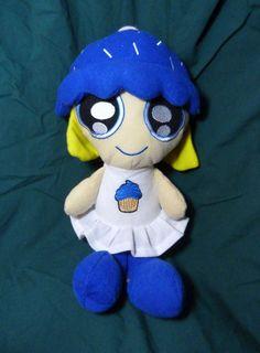 "Cupcake Cuties Berry Licious Plush Doll 13"" Peekaboo Toys Blue White Yellow Hair #PeekabooToys"