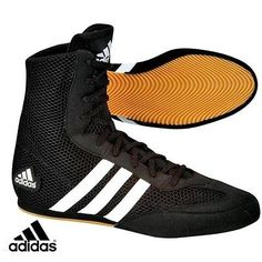 Adidas box hog 2 #boxing boots sizes 7uk - 14uk  #black/white #stripes,  View more on the LINK: http://www.zeppy.io/product/gb/2/171051923425/