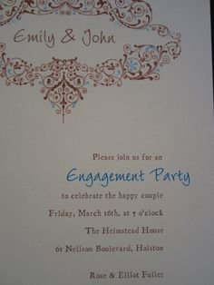 Engagement Announcement & Party Invite
