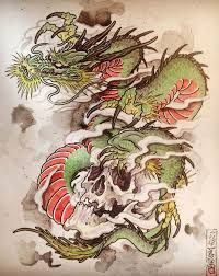 Artwork of Guillaume from The Next Pen. Tattoos, paintings, drawings, all about his designs. Japanese Dragon Tattoos, Japanese Tattoo Art, Japanese Tattoo Designs, Japanese Art, Dragon Images, Oriental Tattoo, Japan Tattoo, Irezumi Tattoos, 1 Tattoo