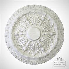 /'ROSE GARLAND/' Ceiling Rose Polystyrene Easy Fit 40 CM Ceiling Rose Size