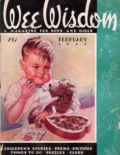1937 Wee Wisdom February - Jack Frost Valentine; Heidi's Friends Paperdolls