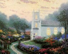 Blossom Hill Church ~ Thomas Kinkade