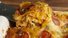Pizzagna: When pizza meets lasagna, the whole world changes! BEST. DINNER. EVER.