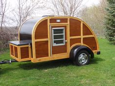 "The ""Woodybago"" needs a new owner… For Sale is my Custom built Mahogany and Ash, 2007 Teardrop trailer. Approximate size is 5′ X 9′ with a double size bed inside. Cust…"