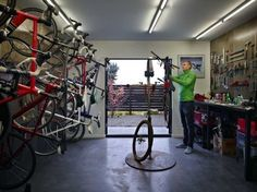 Cycle House contemporary Garage And Shed Seattle chadbourne doss archi - C. - Cycle House contemporary Garage And Shed Seattle chadbourne doss archi – Cycle House conte - Shed Design, House Design, Garage Design, Bike Room, Bike Shed, Bicycle Garage, Bicycle Shop, Bike Storage, Shed Plans