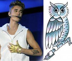 Cool Owl - #Justin #Bieber #Tattoo Design | TattooTemptation