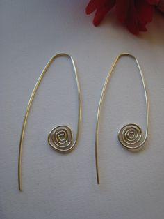 Sterling Silver Koru Inspired Earrings.  Handcrafted by ZaZing, $45.00
