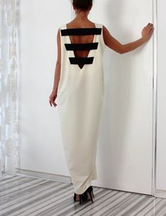 Chic Street Style Strappy Back Loose Maxi Dress ღ Awesome fashion clothes for stylish women from Zefinka.