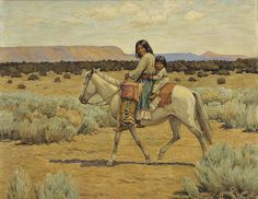 Apache Mother and Children on Horseback by Carl Moon. Search the Smithsonian American Art museum collection, one of the world's largest and most inclusive collections of art made in the United States. Native American Girls, Native American Artists, American Women, Indian Postcard, Mystery Of History, Southwest Art, Native Indian, Indian Tribes, Le Far West