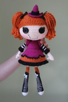 PATTERN: Lalaloopsy Candy Broomsticks Crochet Amigurumi Doll
