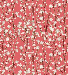 Go Orient Cherry Blossoms  by Manuela I like this shade of pink for the blossoms.