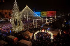 Deschiderea Targului de Craciun 2016, in Cluj-Napoca. Foto: Dan Tautan.