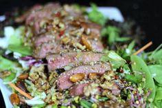 Sałatka z Wołowiną i Orzechami Chili, Pork, Beef, Cooking, Kale Stir Fry, Meat, Kitchen, Chile, Chilis