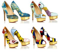 When Famous Paintings Are Turned Into High-Heeled Shoes! #wearableart #shoes #fashion