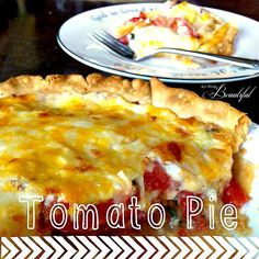{Tomato Pie} ain't no dessert - Making two of these right now with tomatoes fresh from our garden!!!