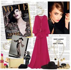 """Saint Laurent's Boho Glam"" by neddi-style ❤ liked on Polyvore"