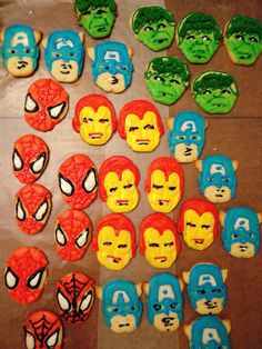 Super Hero 4th Birthday Party.  Sugar cookies Favors.  cookie cutters at William Sonoma
