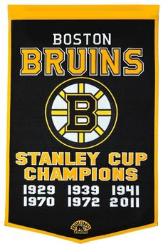 Boston Bruins 24x36 Wool Dynasty Banner Nhl Players 4df60988d