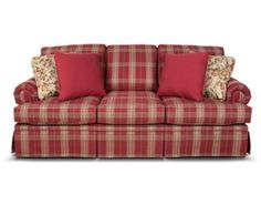 Clare 5375 by England Furniture   Plaid Living RoomLiving  I pinned this Erickson Sofa from the Perfect Plaids event at Joss  . Plaid Living Room Furniture. Home Design Ideas