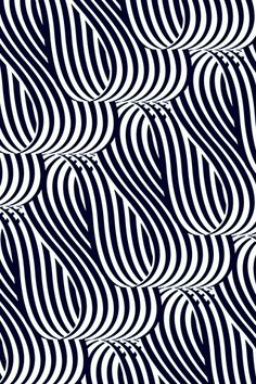 Looped - Matt Chase, black and white stripe pattern design