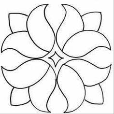 Four Tulips - Tulpen Quilting Stencils, Stencil Patterns, Applique Patterns, Mosaic Patterns, Applique Quilts, Applique Designs, Quilting Designs, Beading Patterns, Flower Patterns