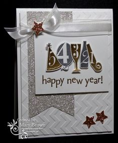 CC407 Happy New Year! by stampercamper - Cards and Paper Crafts at Splitcoaststampers