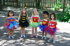 Supergirl tutu outfit Inspired by Marvel Superheroes Collection