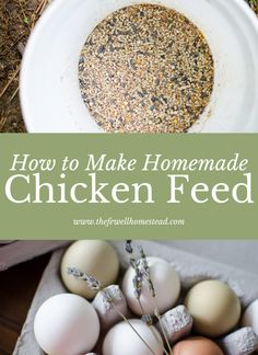 Urban Gardening How to Make Homemade Chicken Feed - Amy Fewell - Making your own all natural chicken feed is easy and efficient. Use this recipe for your all natural chicken flock and maintain health and wellness! Cheap Chicken Coops, Portable Chicken Coop, Best Chicken Coop, Backyard Chicken Coops, Building A Chicken Coop, Chickens Backyard, Keeping Chickens, Raising Chickens, Organic Chicken Feed