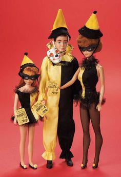 The Fabulous Fifties - Modern Dolls: 358 Ken,Barbie and Skipper in Matching