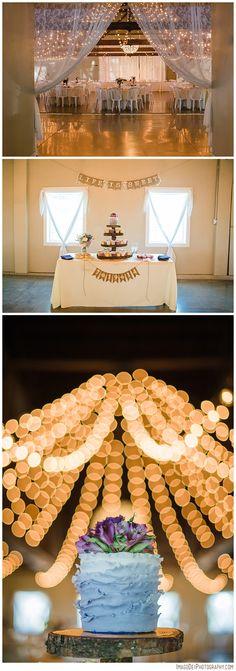 Green Villa Barn & Garden Wedding // Independence Oregon Wedding // Country Barn Wedding // Wedding Photographer   Imago Dei Photography   Xiomara Gard twinkle light barn wedding ruffle lavender cake