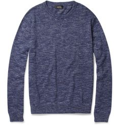 A.P.C. Marl Cotton And Silk Cotton Sweater.
