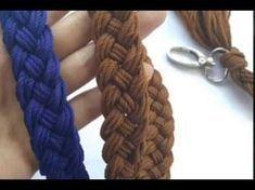 Cara Membuat Tali Tas Rajut Kepang (How To Make Braided Bag Strap)Easy to Crochet Romanian Point Lace Cords Tutorial Crochet Shell Stitch, Crochet Stitches, Crochet Patterns, Crochet Tutorials, Crochet Cord, Crochet Lace, Crochet Baby Hats, Crochet Purses, Crochet Basics