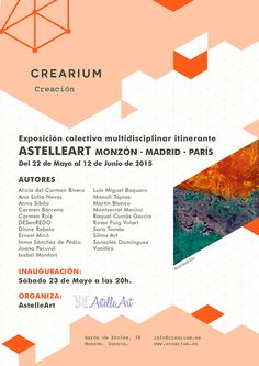Crearium - Exposición colectiva multidisciplinar itinerante AstelleArt -Monzón · Madrid · París-
