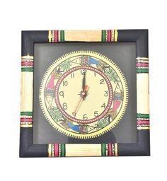 Black Fish Handcrafted Wall Clock - Buy Black Fish Handcrafted Wall Clock Online India at Best Prices - Kraftly.com