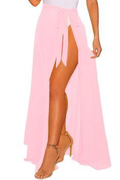 73eb5771c6 Pink Sheer Wrap Maxi Beach Skirt Beach Cover Up Skirt, Beach Maxi Skirt,  Beach