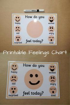 It can be hard for children to know what they are feeling. This chart can help children to identify their moods. Draw faces and talk about emotions Emotions Preschool, Emotions Activities, Preschool Classroom, Therapy Activities, In Kindergarten, Preschool Activities, Teaching Emotions, Autism Classroom, Feelings Chart