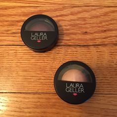 Laura Geller eyeshadows Never used and in their boxes. These colors are very pretty and compliment each other well. Fig is a purplish color and Candy is a pretty soft pink shimmer color. These would be best together and look great together  but I'll sell separately. Her products are great and he shadows stay in very well throughout the day  Makeup Eyeshadow