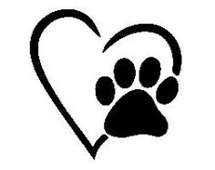 I like how the paw is layered on top of the heart